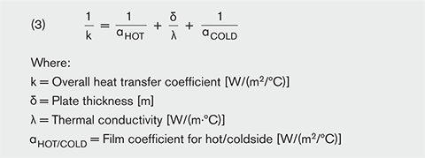 relationship between flow rate and overall heat transfer coefficient